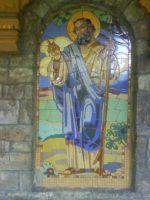 Žilinský lesopark Chrásť - kaplnka v detskom parčíku - mozaika sv. Peter, foto autor